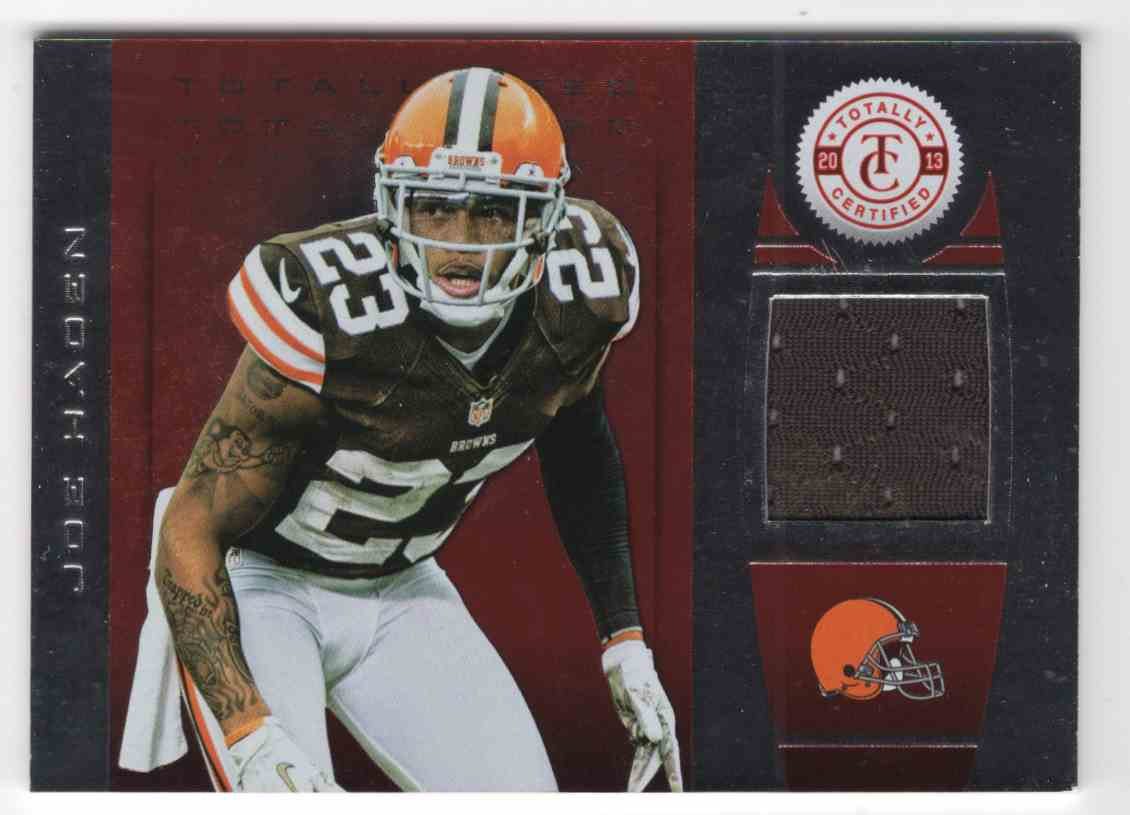 2013 Totally Certified Red Materials Joe Haden #67 card front image