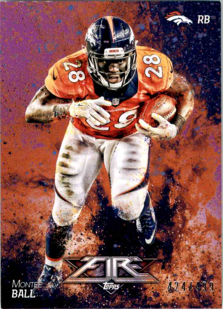2014 Topps Fire Purple Montee Ball #29 card front image