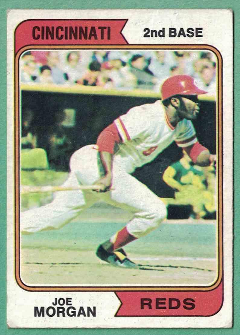 1974 Topps Joe Morgan VG EX wax stain #85 card front image