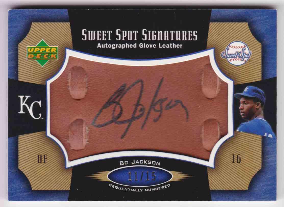 2005 Upper Deck Sweet Spot Glove Leather Bo Jackson On Kronozio
