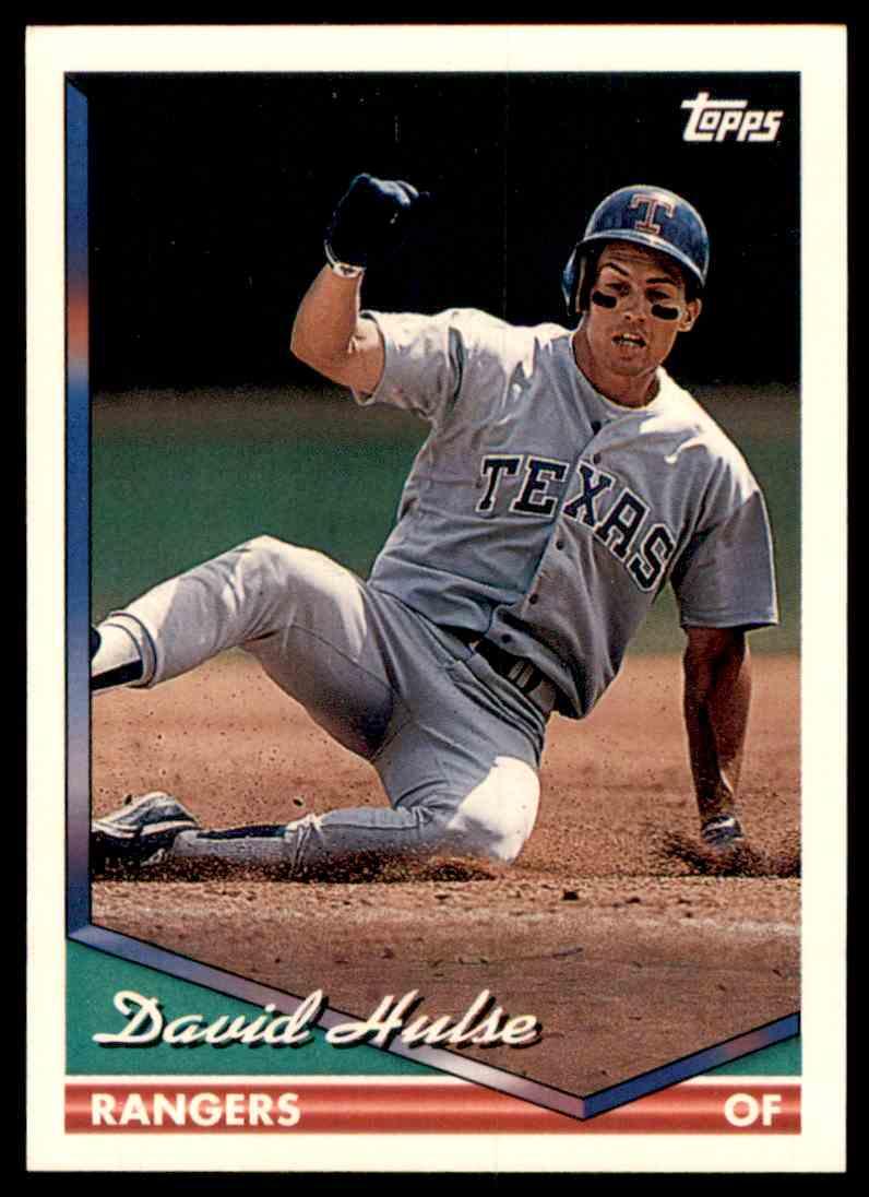 1994 Topps David Hulse #498 card front image