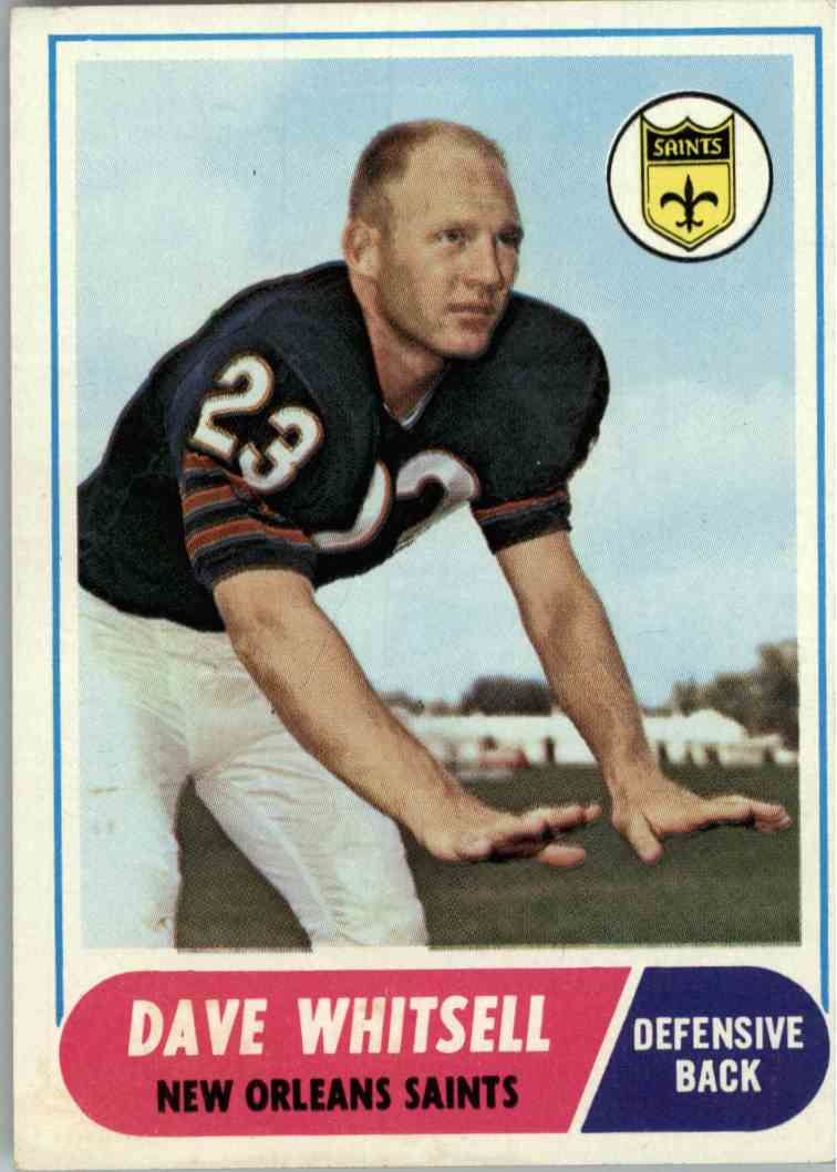 1968 Topps Dave Whitsell #82 card front image