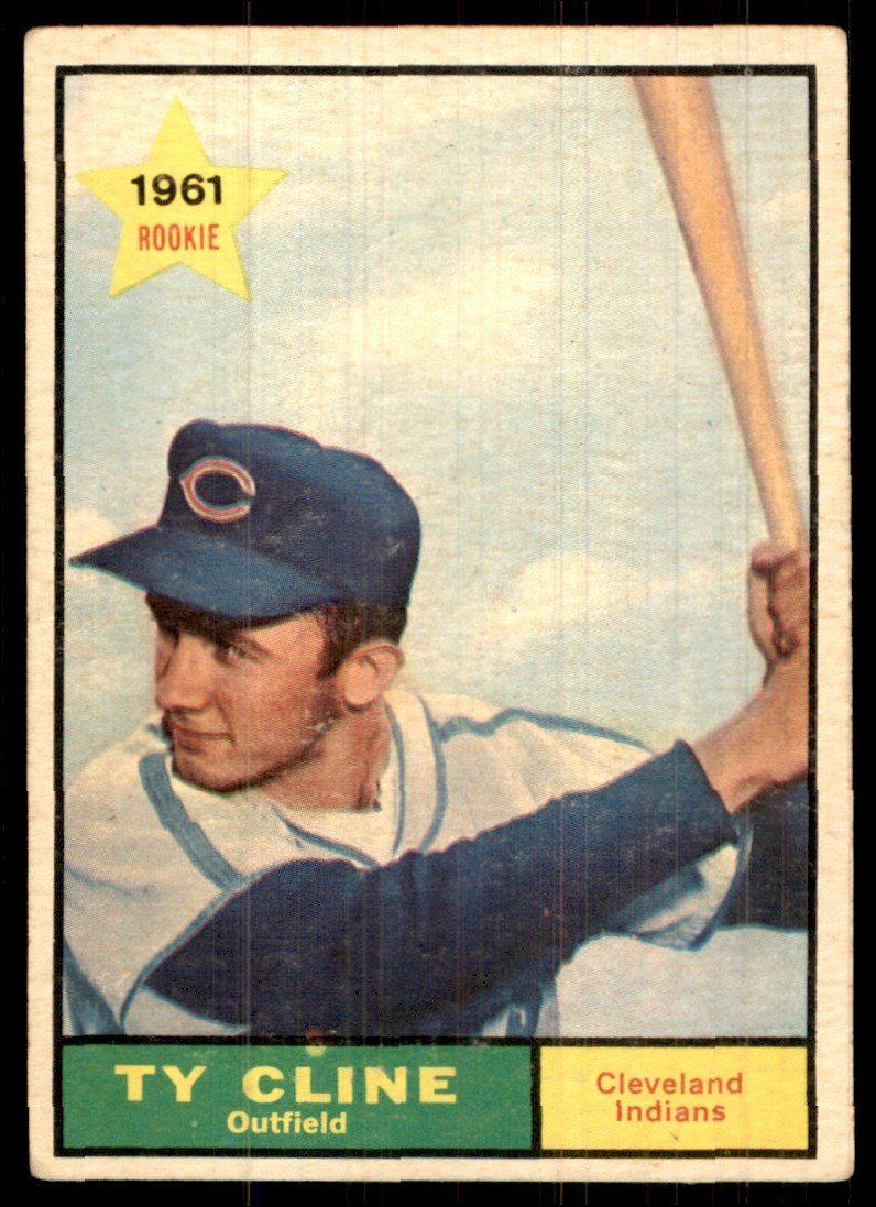 1961 Topps Ty Cline #421 card front image
