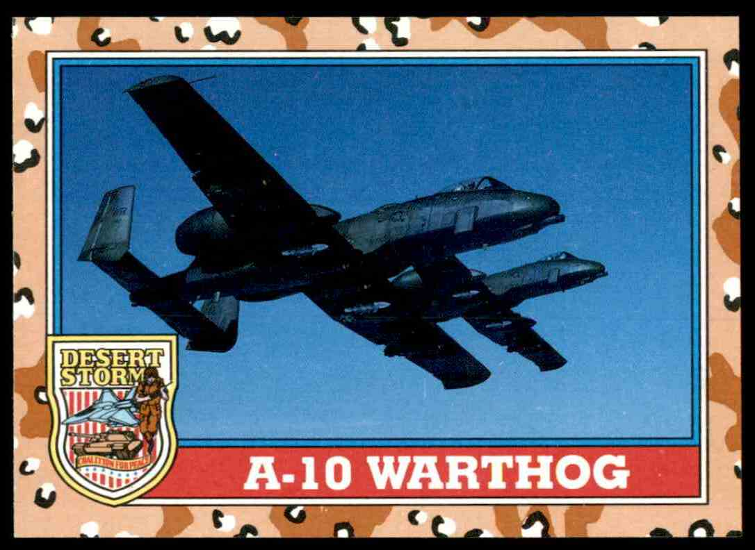 1991 Desert Storm Topps A-10 Warthog #118 card front image