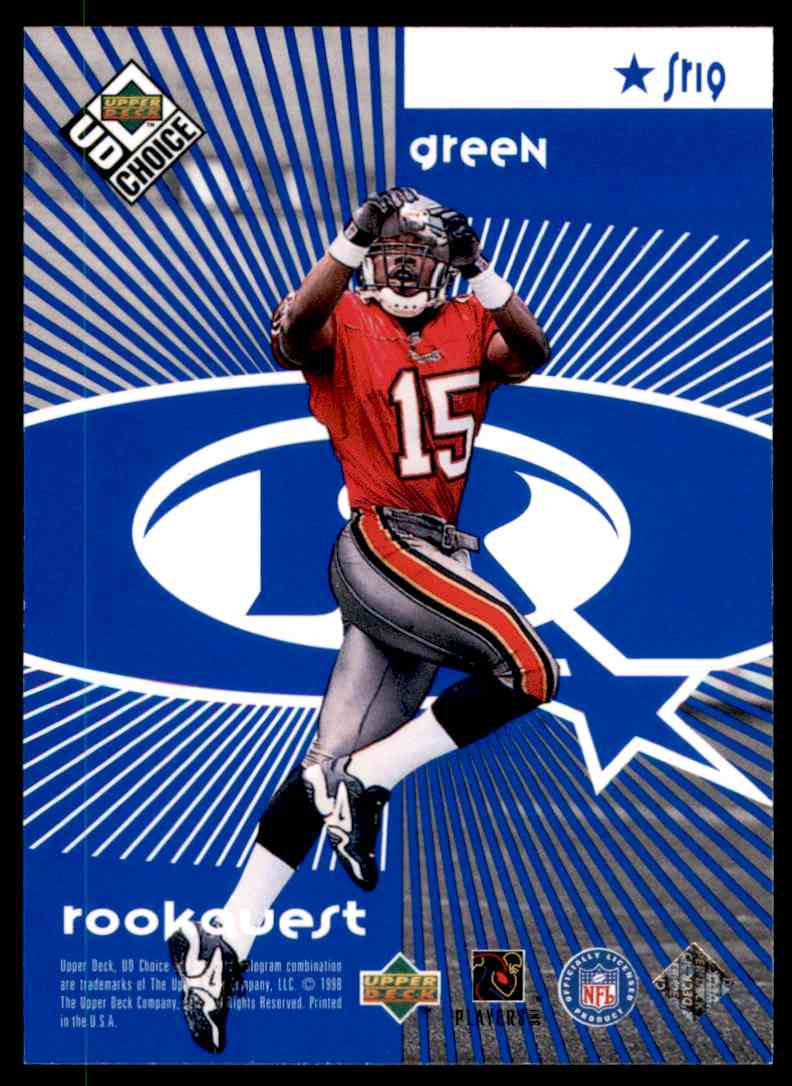 1998 UD Choice Starquest/Rookquest Blue Rison, Andre, Green, Jacquez #SR19 card back image