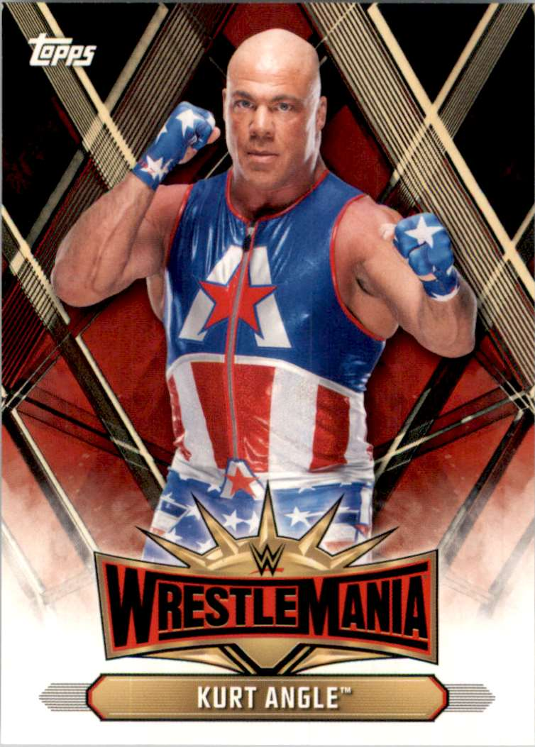 2019 Topps Wwe Road To WrestleMania WrestleMania 35 Roster Kurt Angle #WM7 card front image