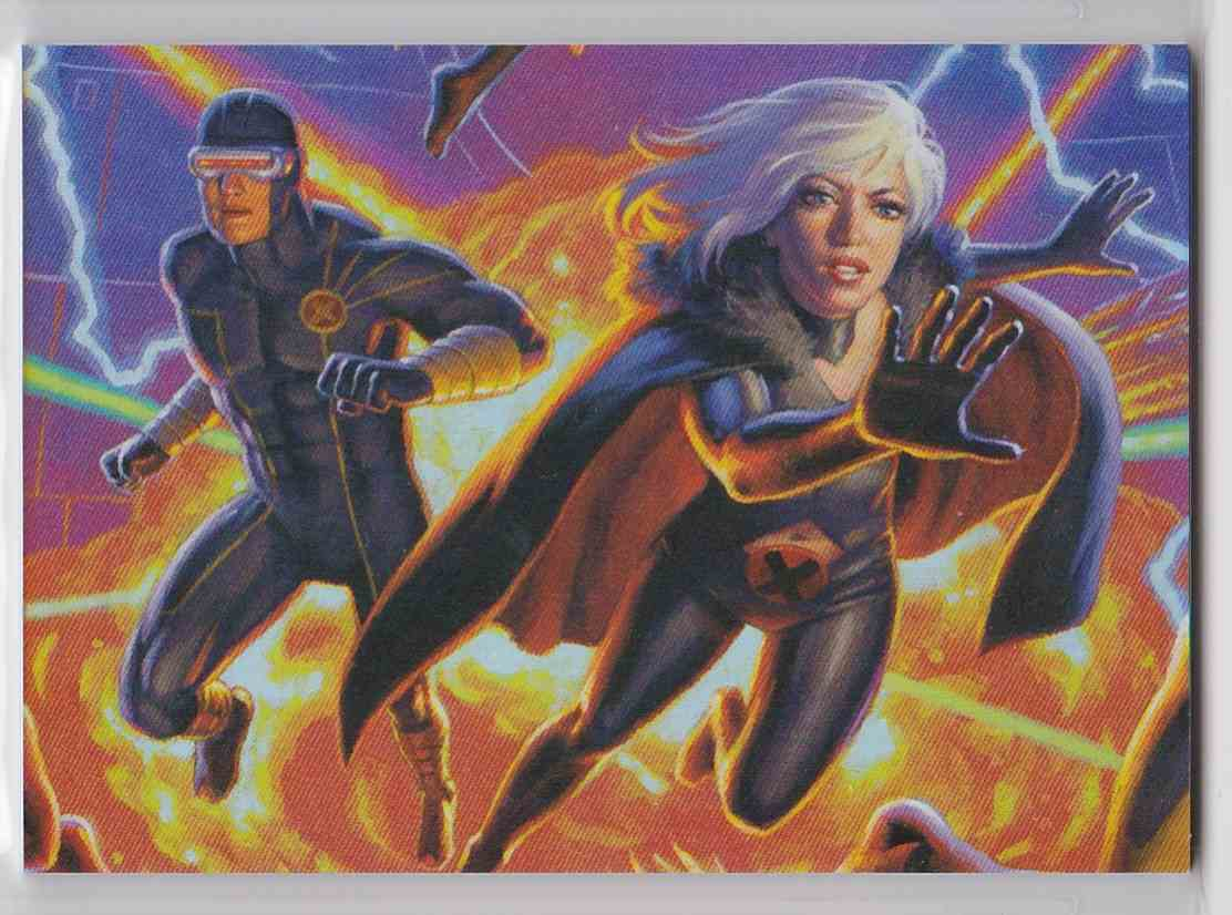 2018 Fleer Ultra X-Men Connected Image Cyclops Emma Frost card front image