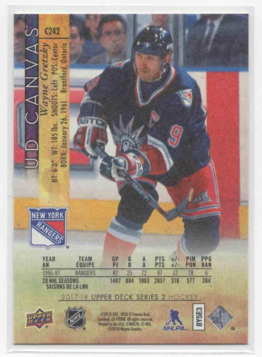 2017-18 Upper Deck Canvas Retired Stars Wayne Gretzky #C242 card back image