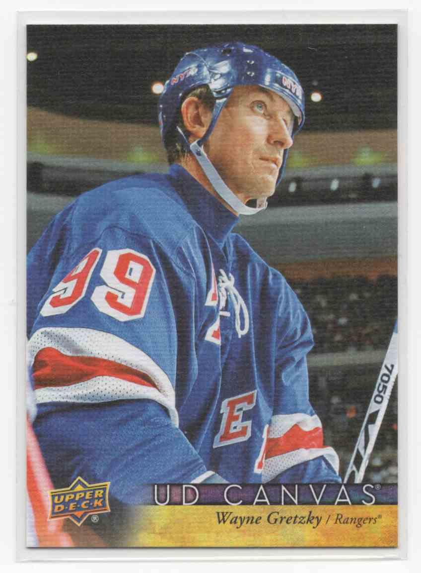 2017-18 Upper Deck Canvas Retired Stars Wayne Gretzky #C242 card front image