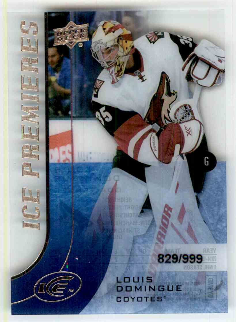 2015-16 Upper Deck Ice Ice Premieres Louis Domingue #178 card front image