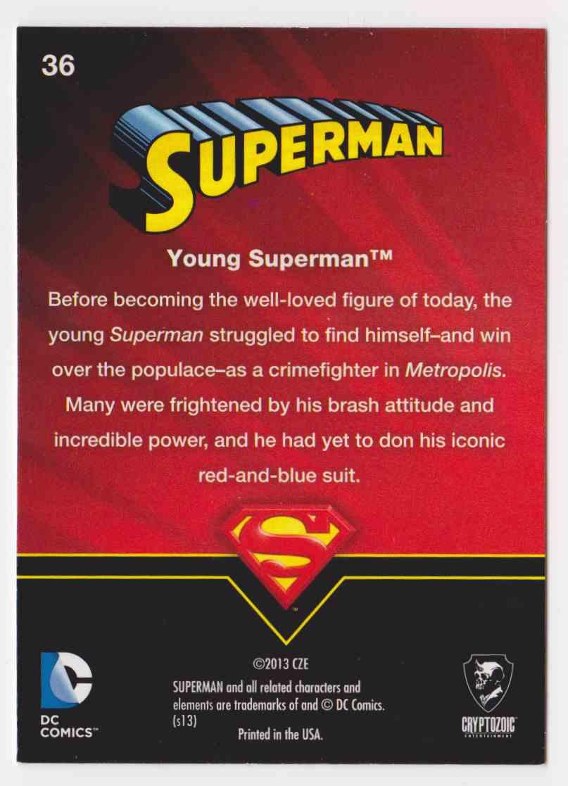 2013 Superman Cryptozoic Superman #36 card back image