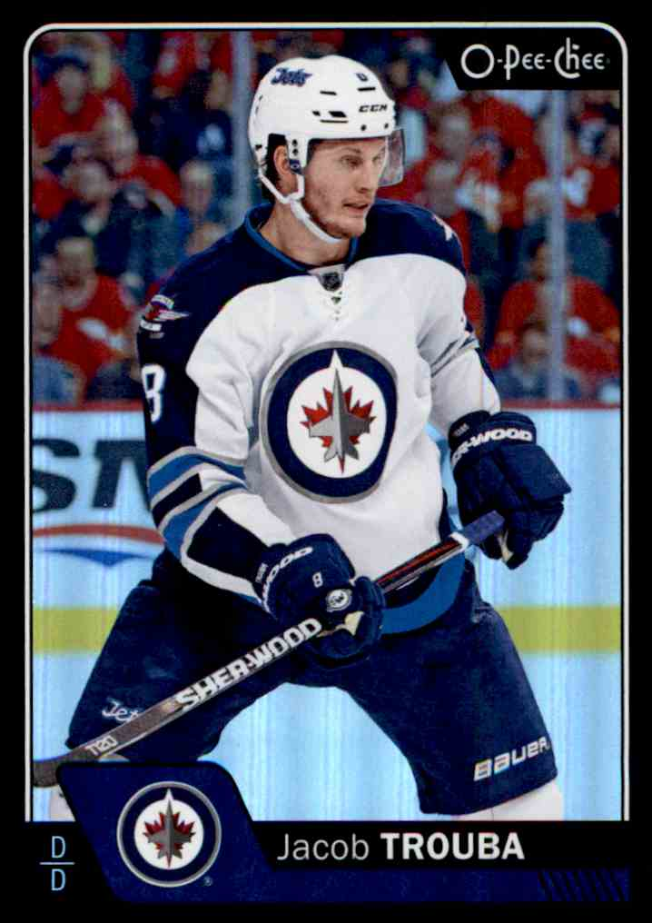 2016-17 O-Pee-Chee Rainbow Black Jacob Trouba #530 card front image