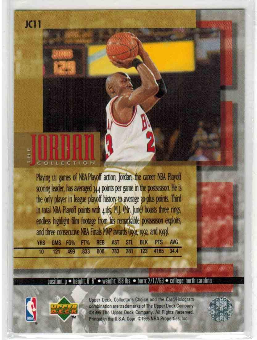 1995-96 Upper Deck Collector's Choice Michael Jordan #JC11 card back image