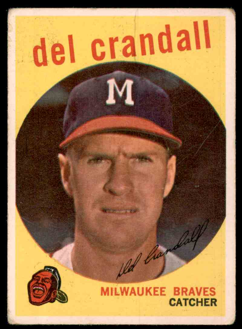 1959 Topps Del Crandall #425 card front image