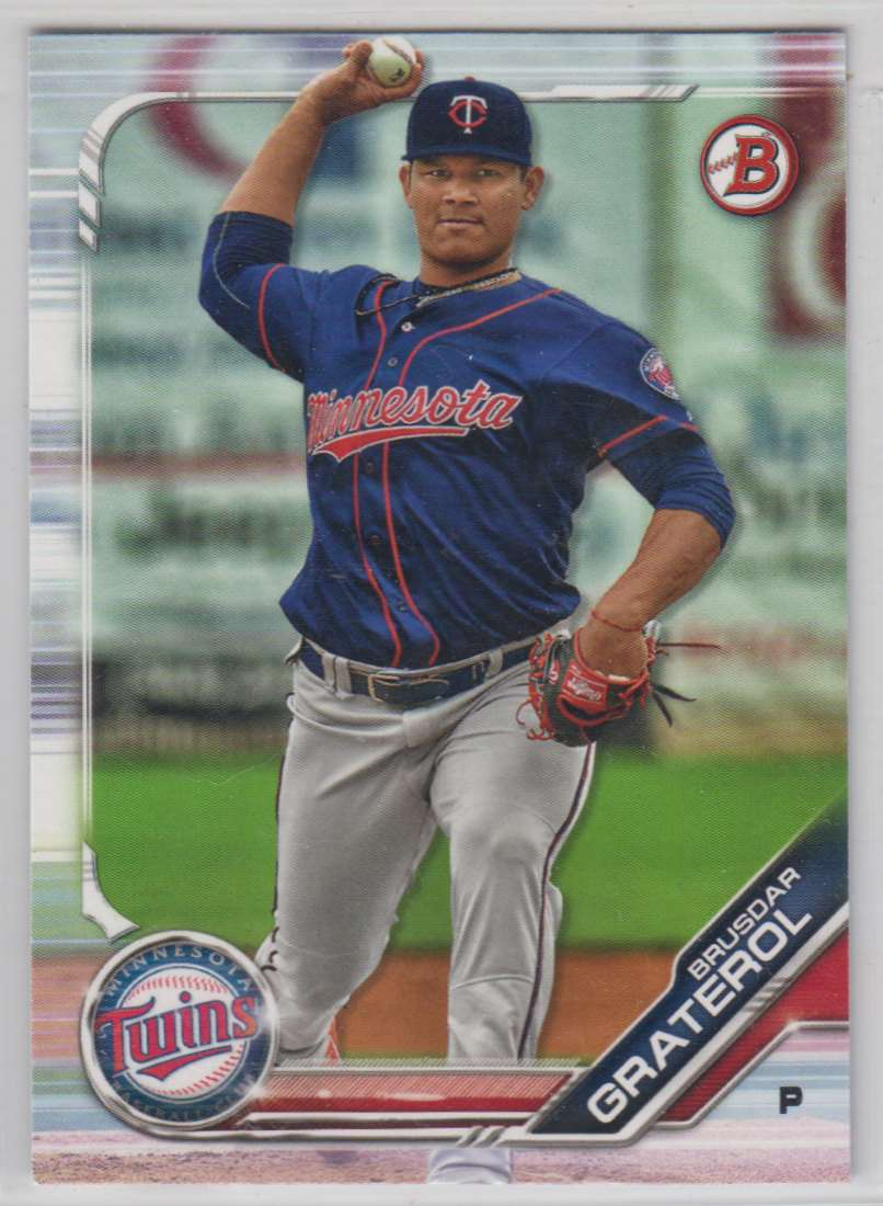 2019 Bowman Prospects Brusdar Graterol #BP-6 card front image