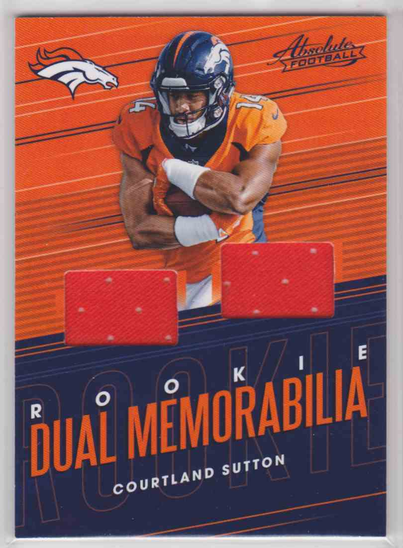 2018 Absolute Rookie Dual Memorabilia Courtland Sutton #RDM-CS card front image