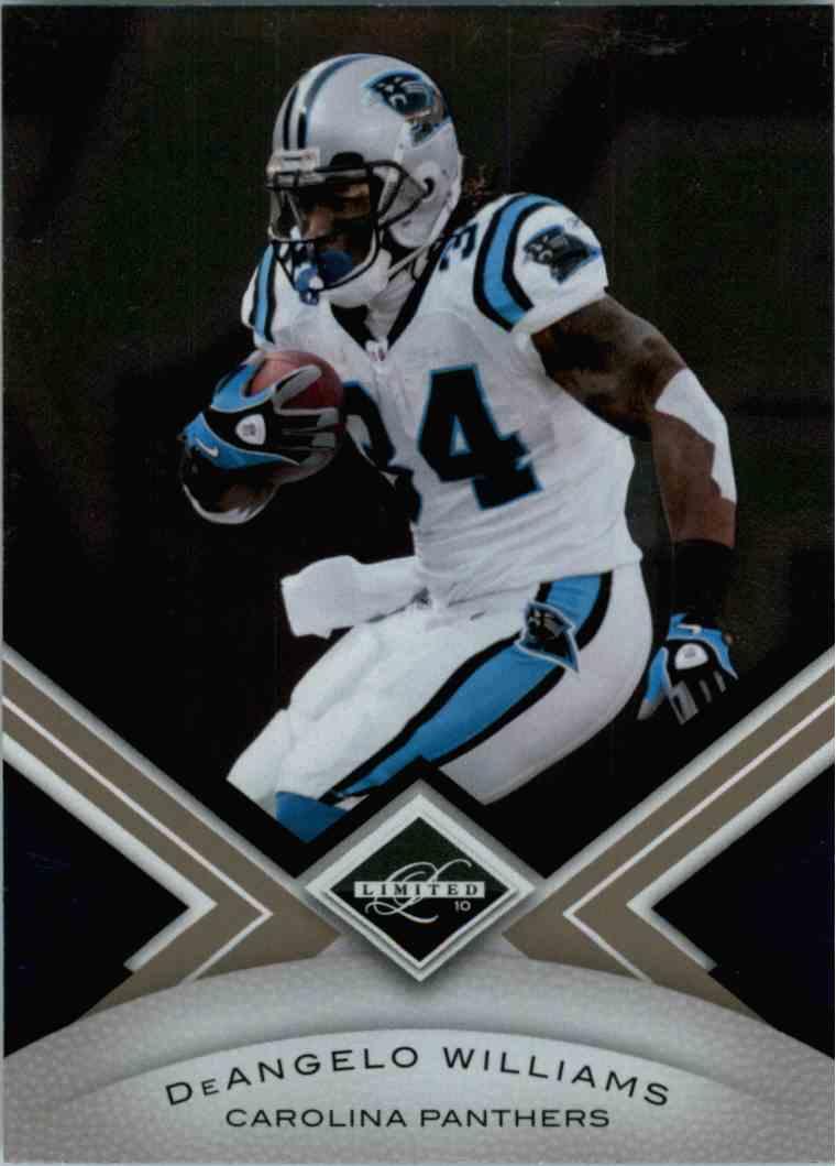 2010 Leaf Limited Deangelo Williams #13 card front image