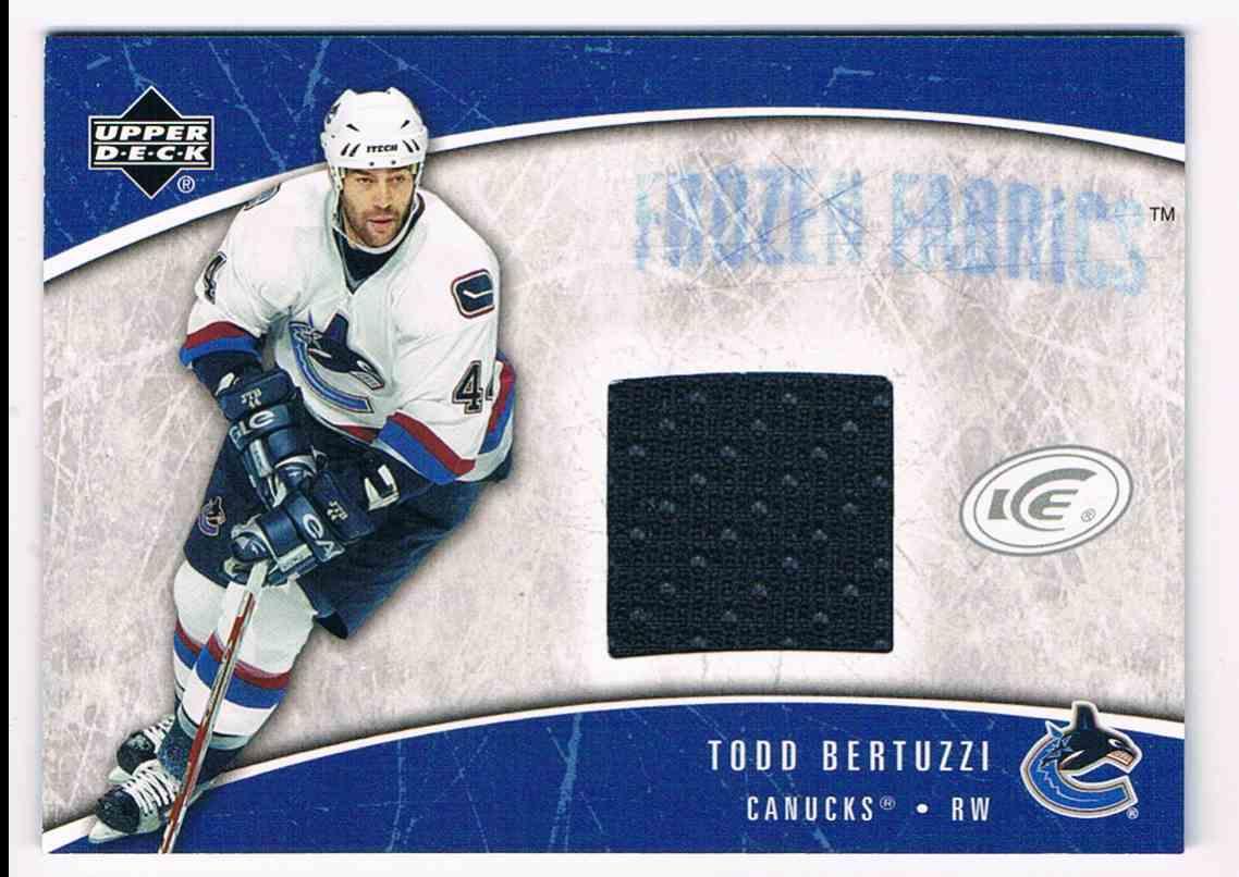 2005-06 Upper Deck Ice Frozen Fabrics Todd Bertuzzi #FF-TB card front image