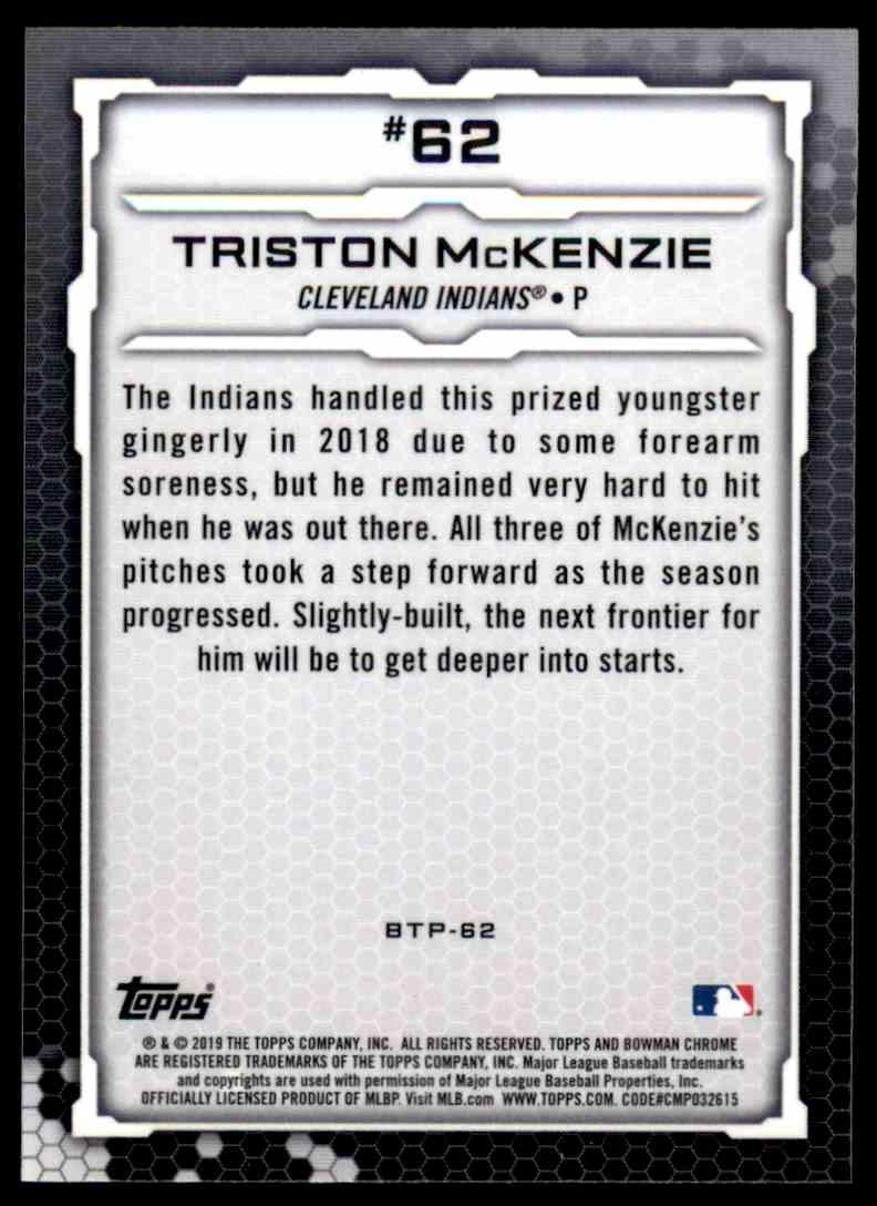 2019 Bowman Triston McKenzie #BTP-62 card back image