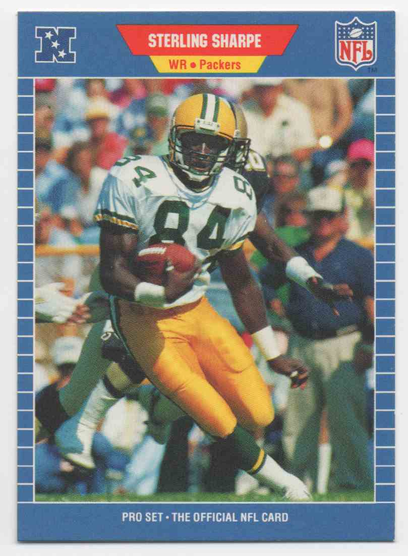 1989 Pro Set Sterling Sharpe #550 card front image