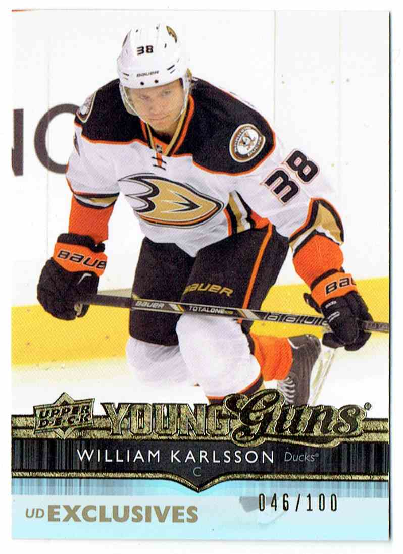 2014-15 Upper Deck UD Exclusives Young Guns William Karlsson #201 card front image