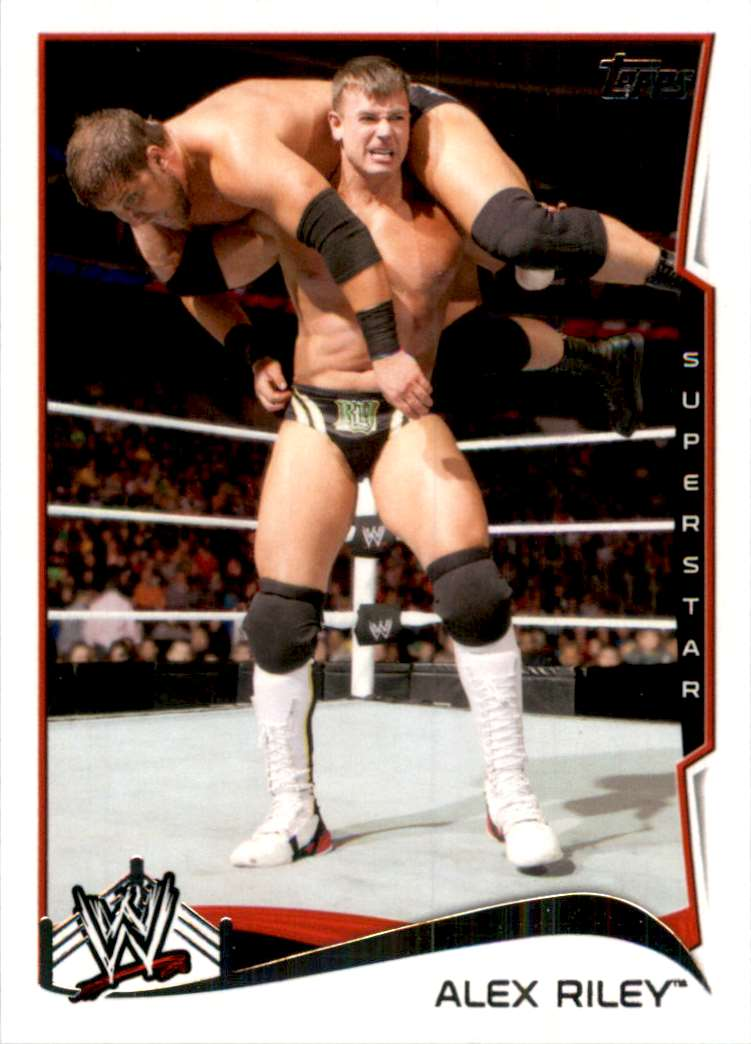 2014 Topps Wwe Alex Riley #2 card front image