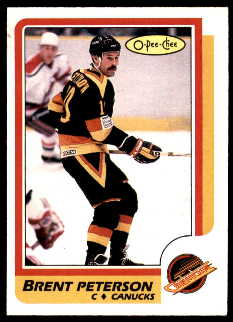 1986-87 OPC Brent Peterson #251 card front image