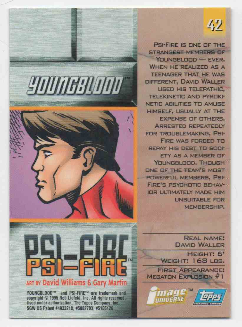 1995 Image Universe Youngblood #42 card back image
