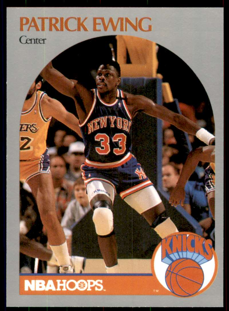 1990-91 Hoops Patrick Ewing #203 card front image