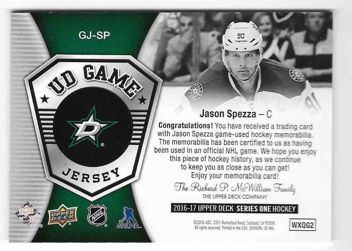 2016-17 Upper Deck Jason Spezza #GJ-SP card back image