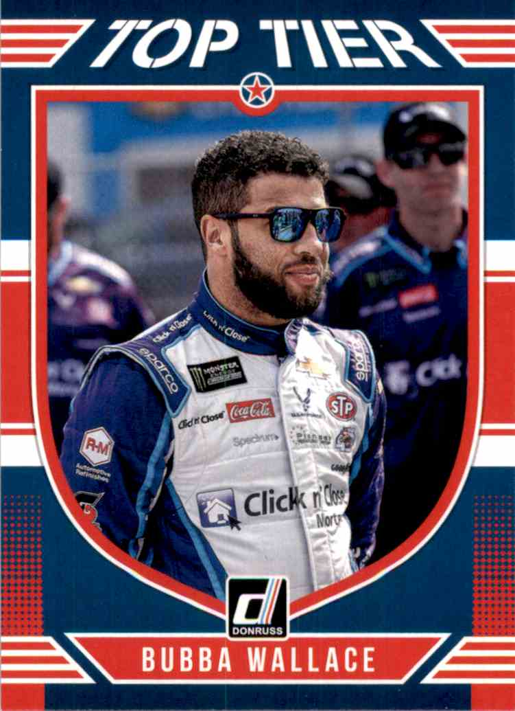 2019 Donruss Top Tier Bubba Wallace #TT5 card front image