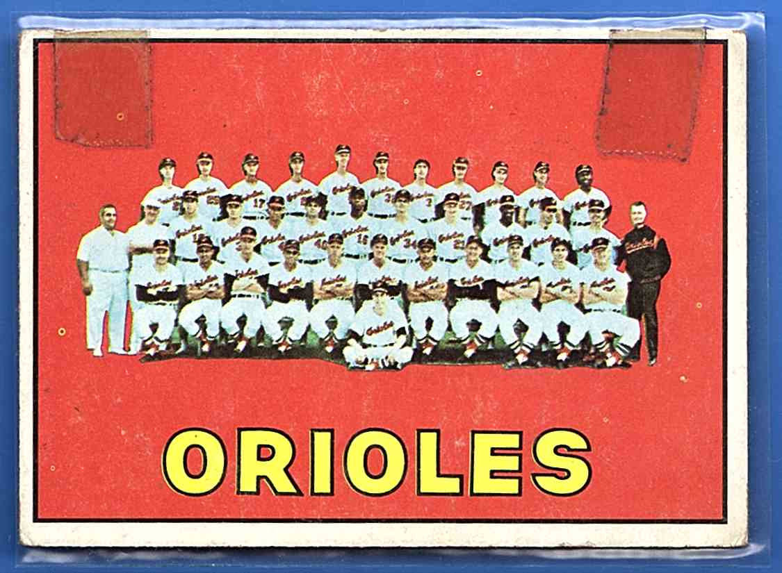 1967 Topps Baltimore Orioles Tc #302 card front image