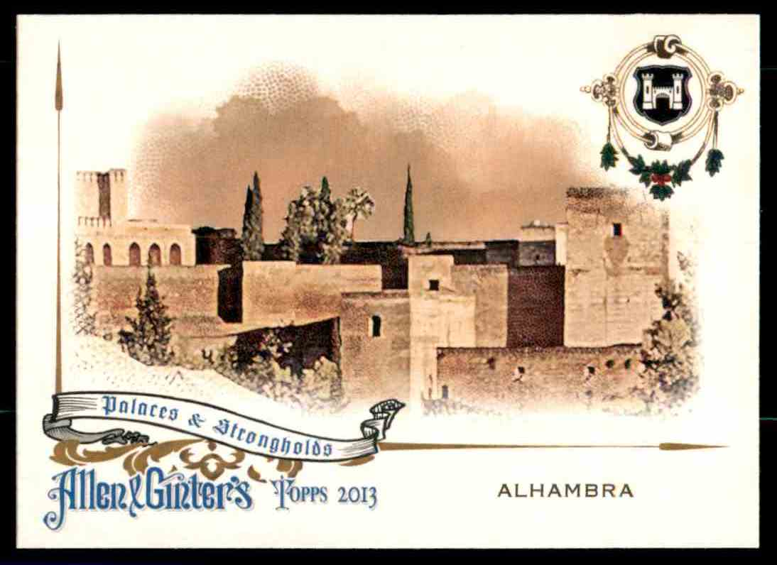 2013 Topps Allen And Ginter Palaces And Strongholds Alhambra #ALH card front image