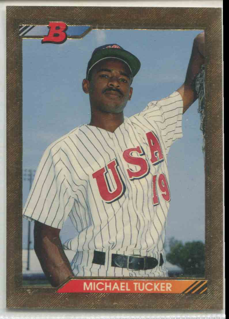 1992 Bowman Gold Foil Michael Tucker 682 On Kronozio