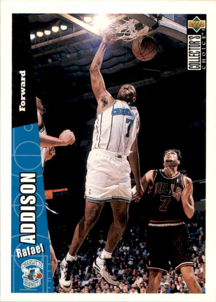 1996-97 Collector's Choice Rafael Addison #212 card front image