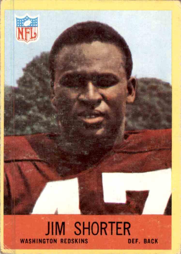 1967 Philadelphia Jim Shorter #188 card front image