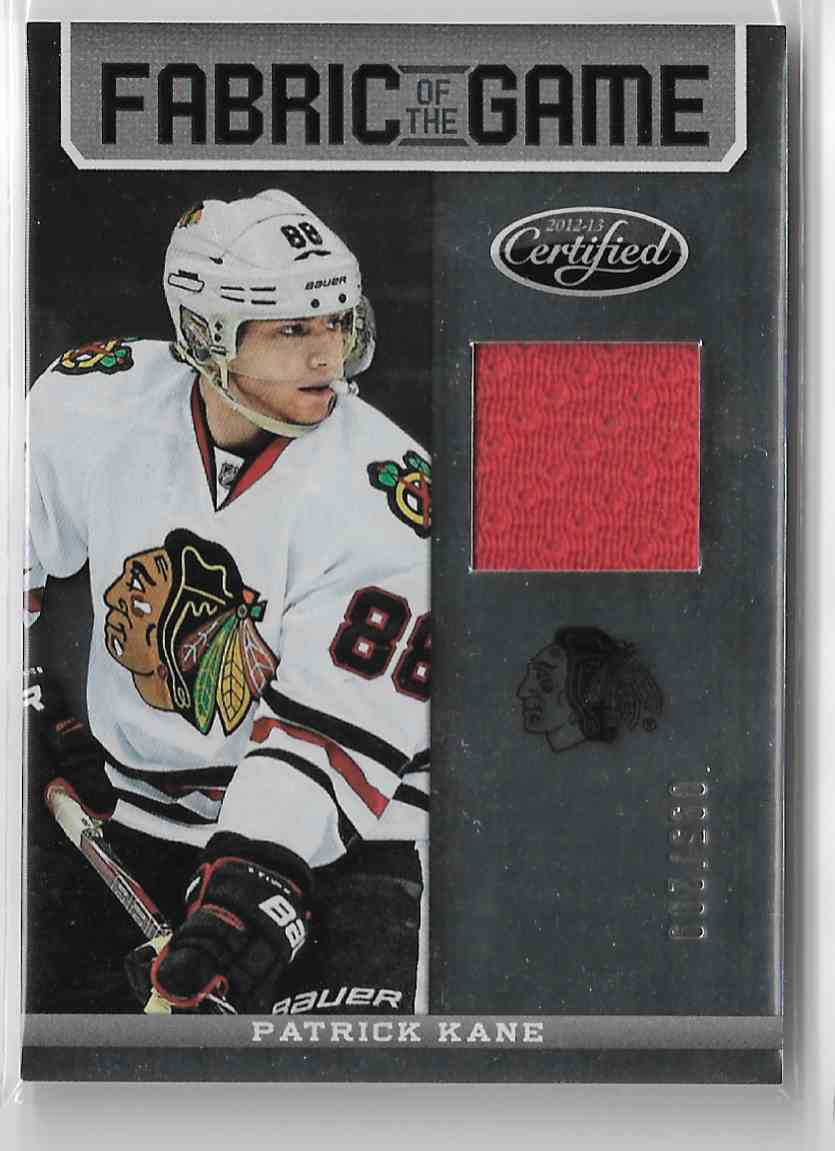 2012-13 Certified Fabric Of The Game Patrick Kane #FOG-KAN card front image