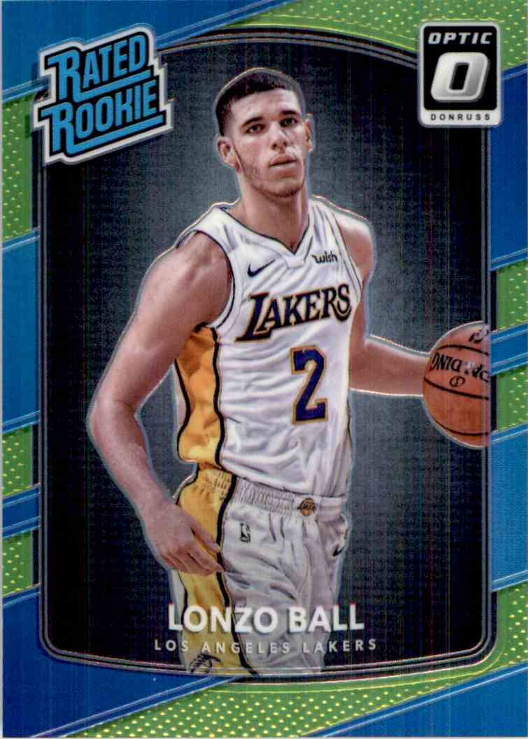 2017-18 Donruss Optic Rated Rookie Lime Green Lonzo Ball #199 card front image