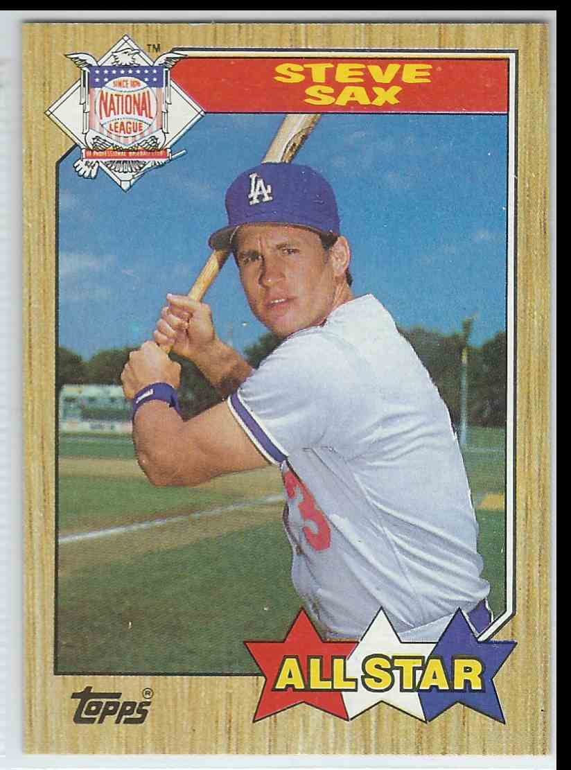 1987 Topps Steve Sax #596 card front image