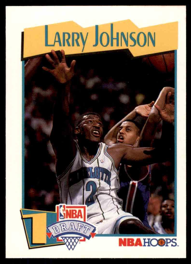 1991 92 Nba Hoops Nba Draft Larry Johnson 47 On Kronozio