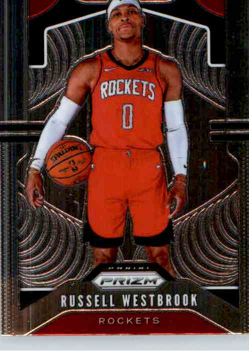 2019-20 Panini Prizm Basketball Prizm Russell Westbrook #182 card front image