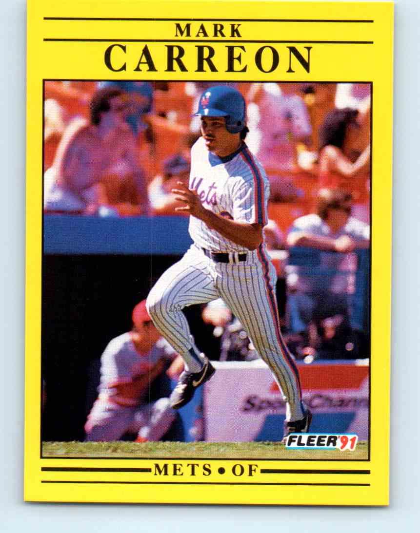 1991 Fleer Baseball Mark Carreon #142 on Kronozio