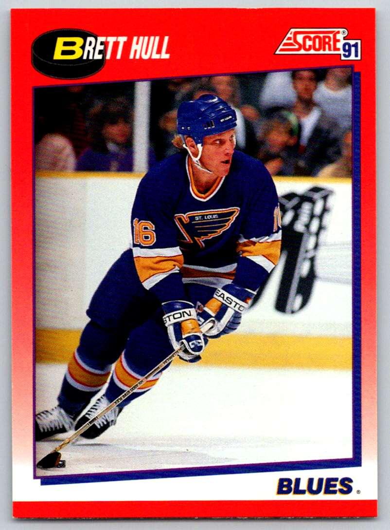 1991-92 Score Canadian Bilingual Brett Hull #1 card front image