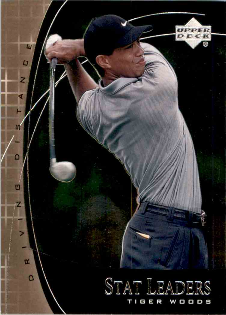 2001 Upper Deck Stat Leaders Tiger Woods #SL2 card front image