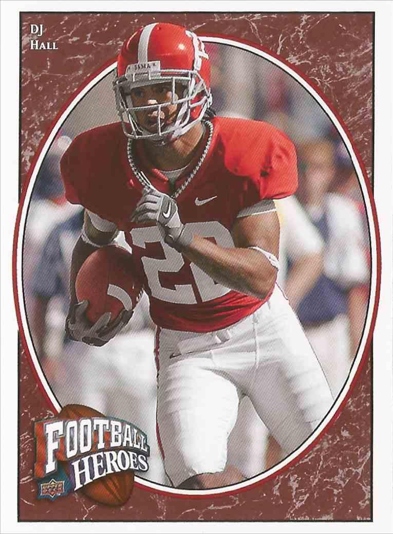 1 D  J  Hall - Rookie Card - Alabama - Mint trading cards