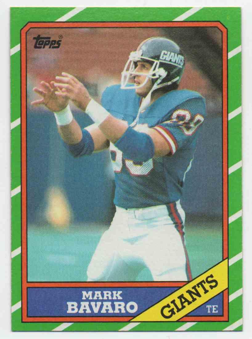 1986 Topps Mark Bavaro #144 card front image