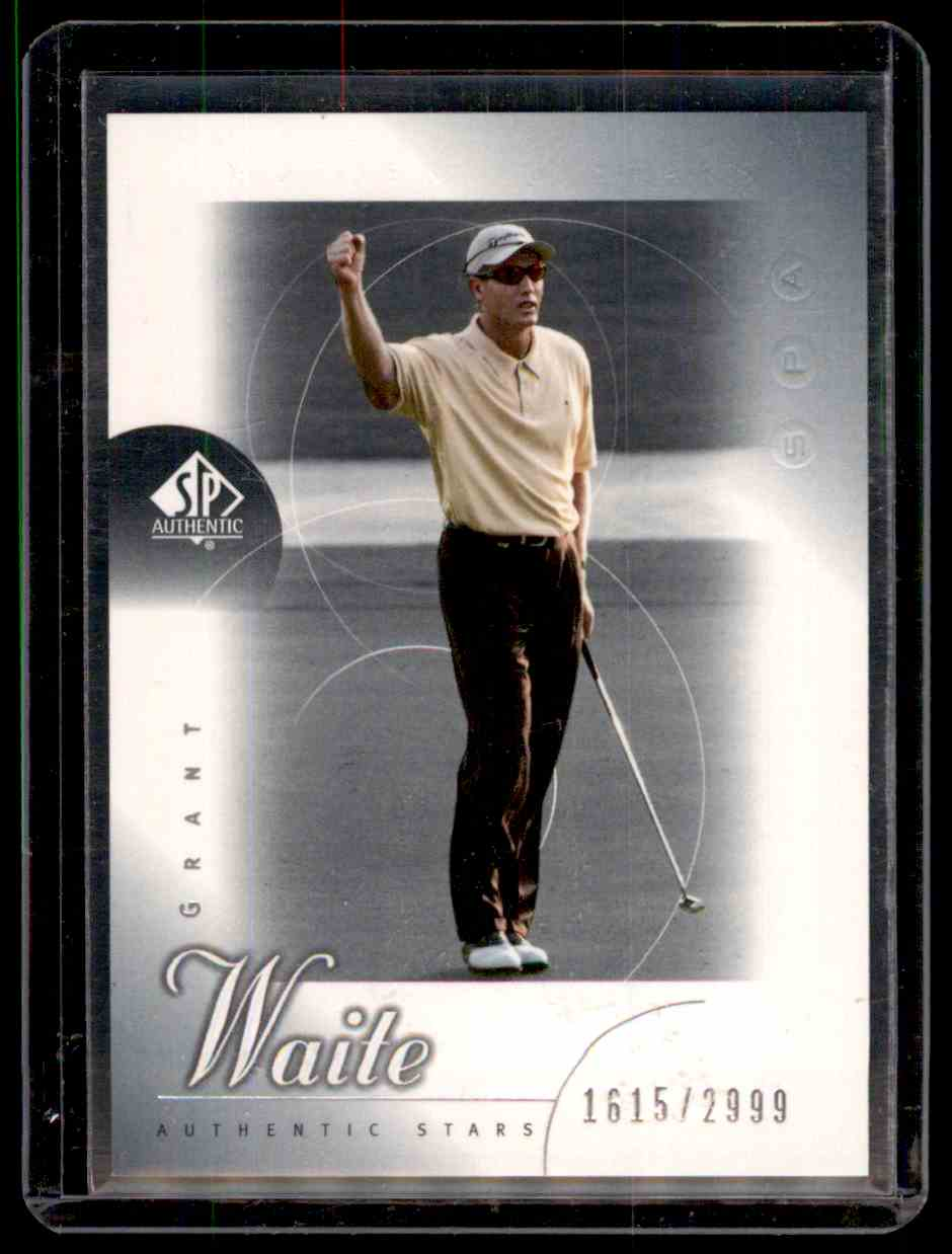 2001 SP Authentic Grant Waite #53 card front image