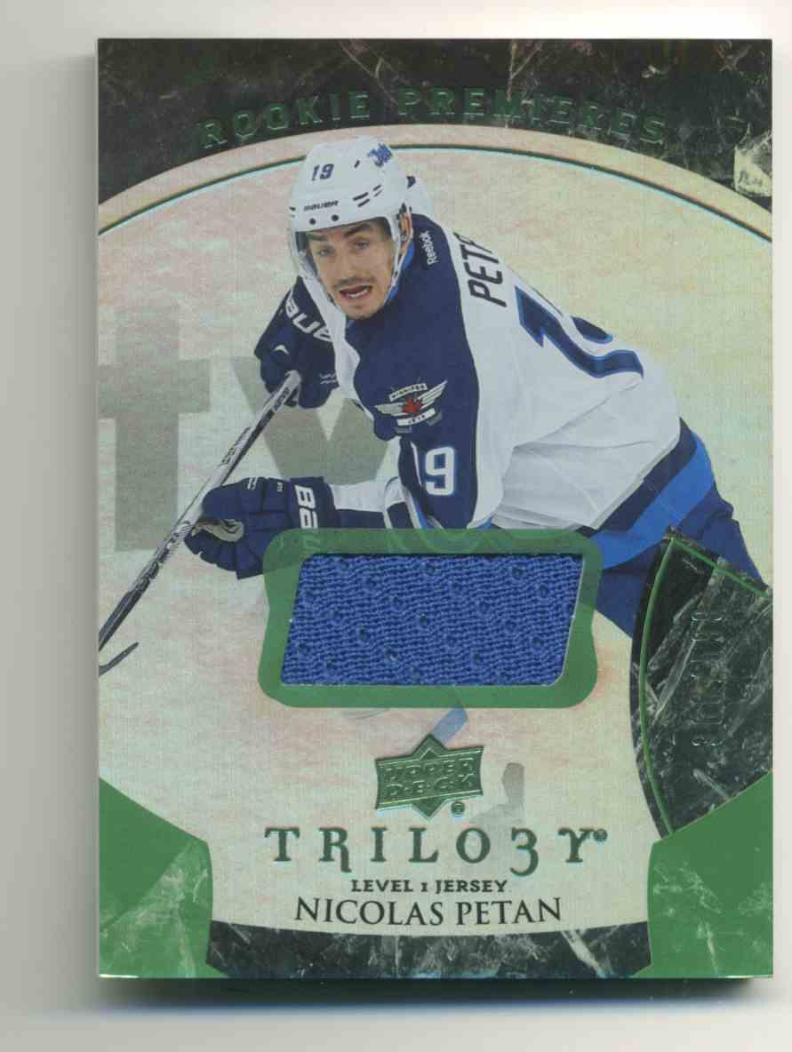 2015-16 Upper Deck Trilogy Rainbow Green Nicolas Petan #126 card front image