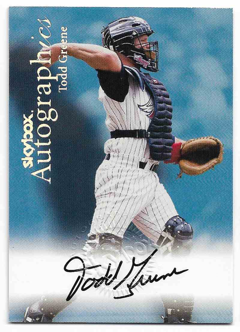 2000 Skybox Autographics Todd Greene #TOGR card front image