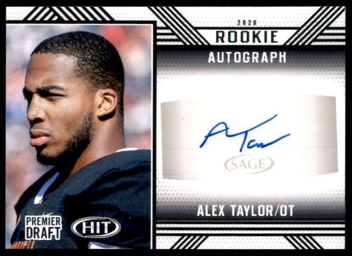 2020 Sage Hit Alex Taylor #A95 card front image